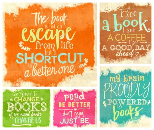 Home-made quotes about book libraries reading