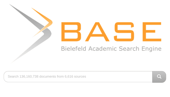 Search interface of Bielefeld Academic Search Engine aka BASE