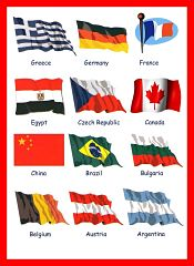 Country Flags Vocabulary For Kids