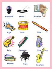 Musical Instruments Vocabulary For Kids