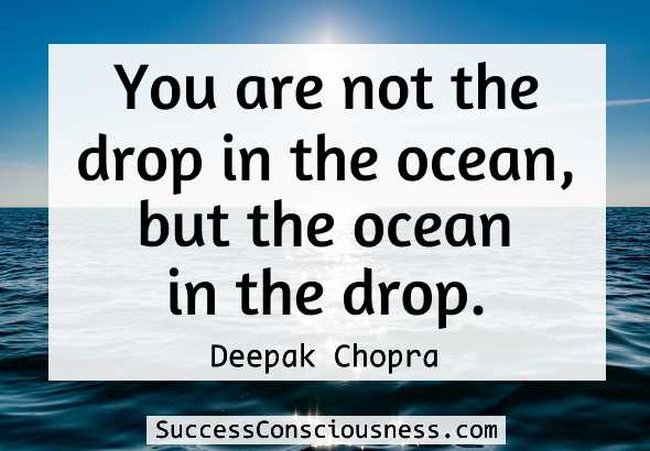 You are not the drop in the ocean