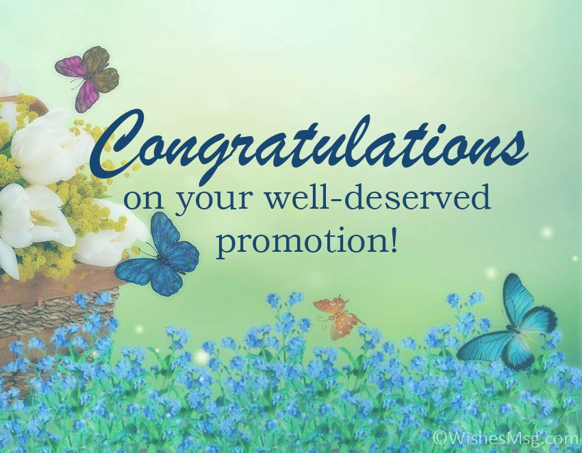 congratulation wishes on promotion